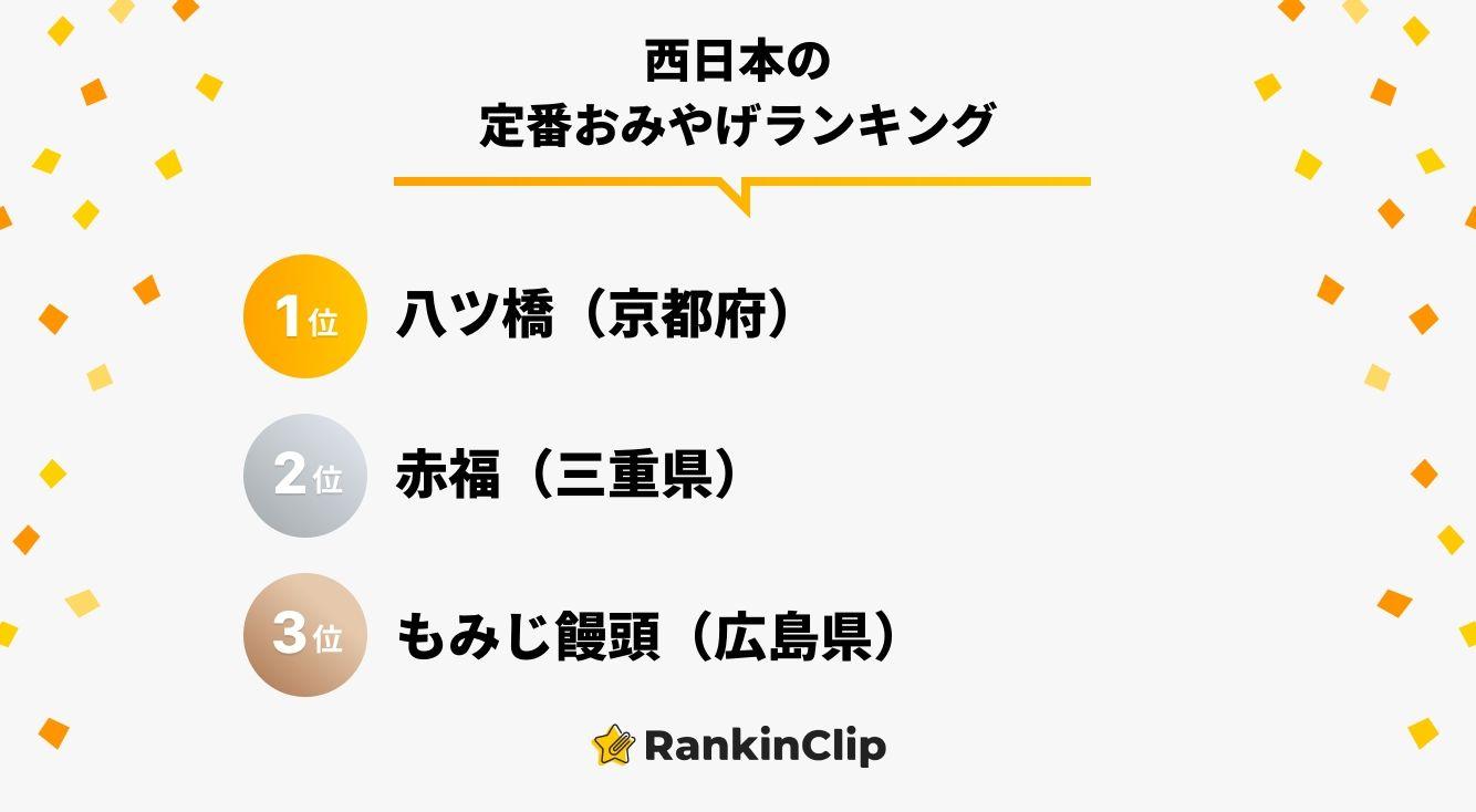 西日本の定番おみやげランキング