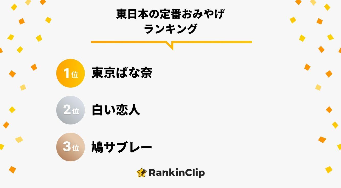 東日本の定番おみやげランキング