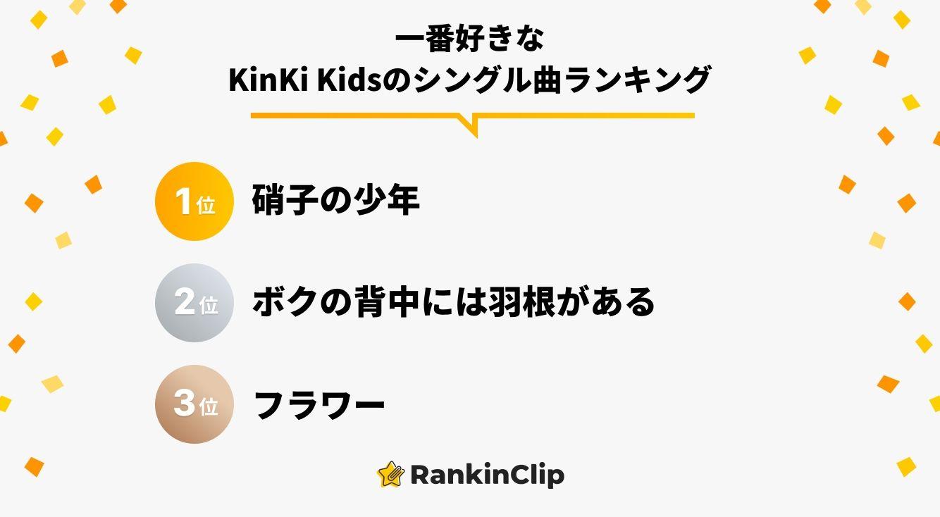 一番好きなKinKi Kidsのシングル曲ランキング