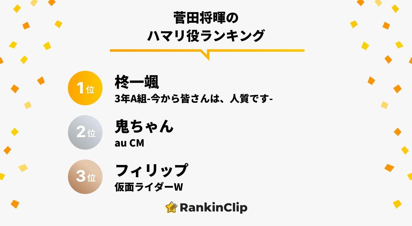 菅田将暉のハマリ役ランキング