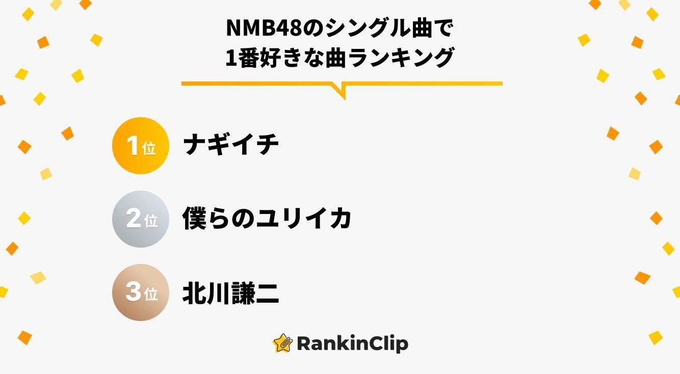 NMB48のシングル曲で1番好きな曲ランキング