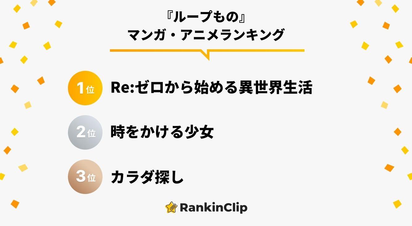 『ループもの』マンガ・アニメランキング
