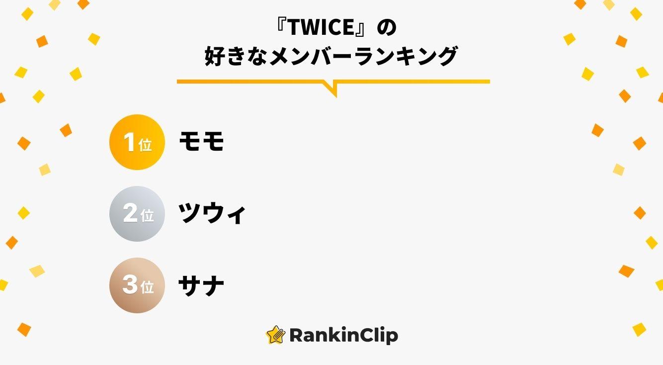 『TWICE』の好きなメンバーランキング