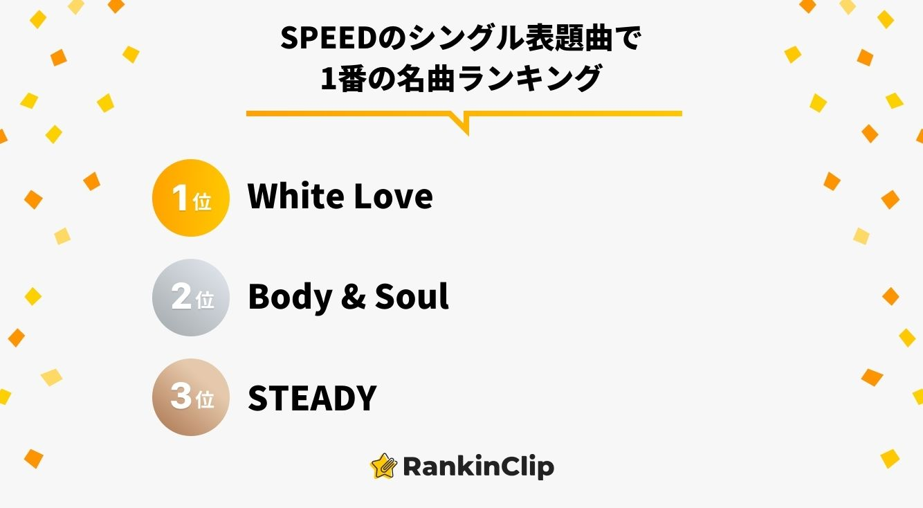SPEEDのシングル表題曲で1番の名曲ランキング