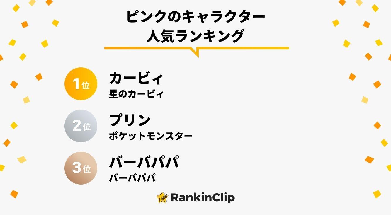 ピンクのキャラクター人気ランキング