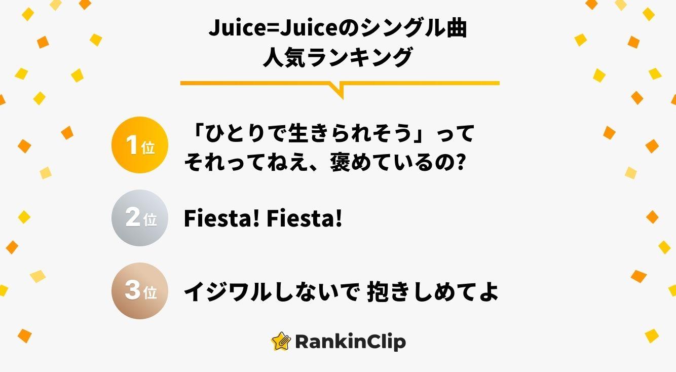 Juice=Juiceのシングル曲人気ランキング